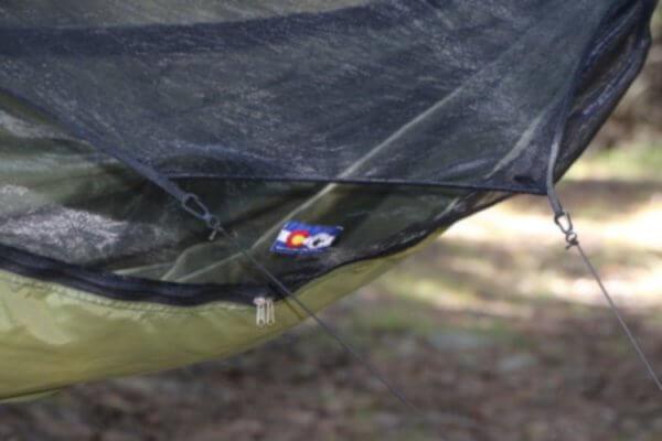 Hamaka Warbonnet Blackbird XLC delail moskytiéry