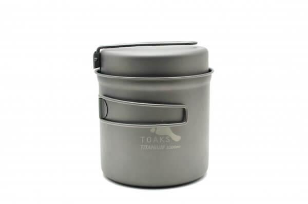 TOAKS Ultralehký titanový hrnec 1100 ml s pánvičkou